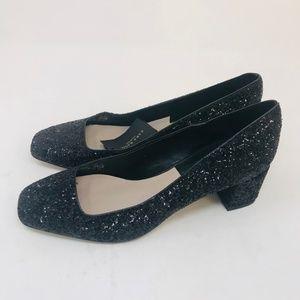 Zara Glitter Pumps Black Size 8